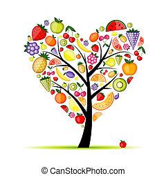 Energiefrucht-Herzform für dein Design