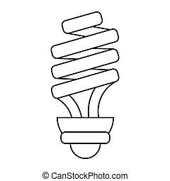 Energiesparende Glühbirne Piktogramm.