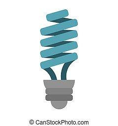 Energiesparende Glühbirne.