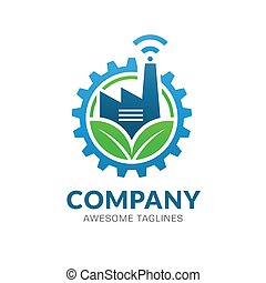 energiewirtschaft, grün, logo, innovativ