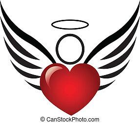 Engel und Herz-Logo