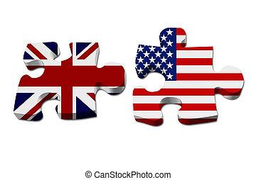 England arbeitet mit den USA zusammen.
