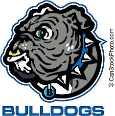 Englisches Bulldog-Maskottchen.