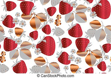 Entferne Erdbeermuster nahtlos.