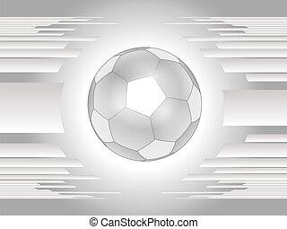 Entfernen Sie den grauen Fußball-Fußball zurückgroun