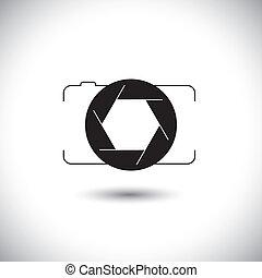 Entfernen Sie digitale Kamera & Verschluss von icon Frontsicht