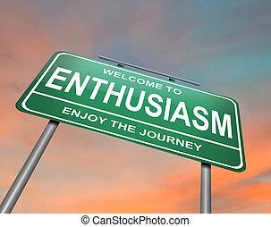Enthusiasm-Konzept.