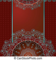 Entwerfen Sie ein abstraktes Muster mit Arabesken