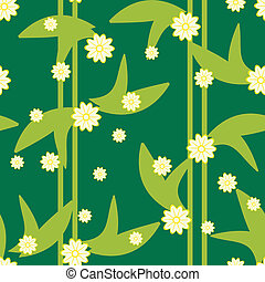Entwerfen Sie grünes Blumenmuster mit Blumen