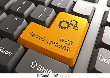entwicklung, web, button., tastatur