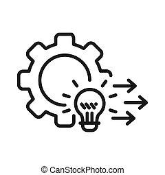 Entwicklungslösung Illustration Design.