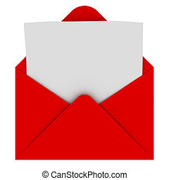 Envelope mit leerem Brief