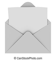Envelope mit leerem Brief.