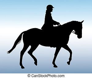 Equestrische Silhouette