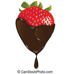 Erdbeer in Schokolade