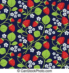 Erdbeeren im Hintergrund