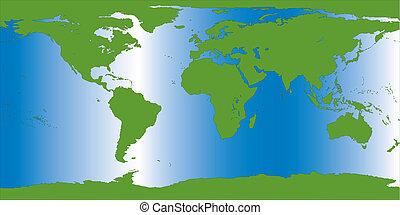 erde, abbildung, landkarte