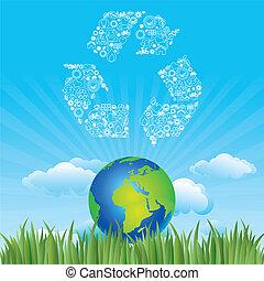 Erde und Umwelt-Ikone