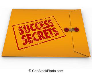 erfolg, geheimnisse, eingestuft, briefkuvert, informationen, gewinnen