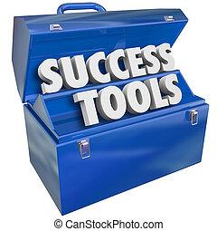 Erfolg Toolbox Fähigkeiten, die Ziele erreichen.