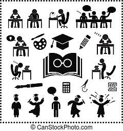erfolgreich, studieren, symbol