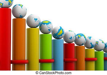 Erfolgreiche globale Geschäftsbar