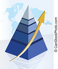 Erfolgreiche Pyramide.