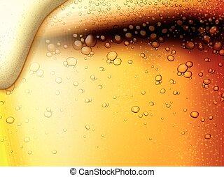 Erfrischende Fizzy Bier Hintergrund.