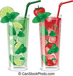 Erfrischt Mojito-Cocktails