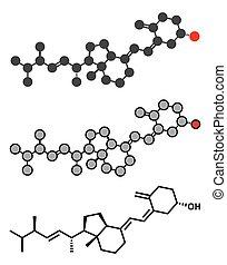 Ergocalciferol (vitamin D2) Molekül.