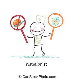 Ernährungsberater fördern gesunde Lebensmittel