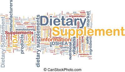 Ernährungszusatz im Hintergrund