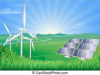 Erneuerbare Energie illustriert