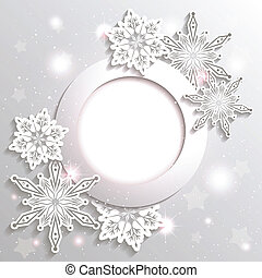 Ersparte Weihnachtsschnee-Star-Hintergrund