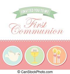 Erste Kommunion.