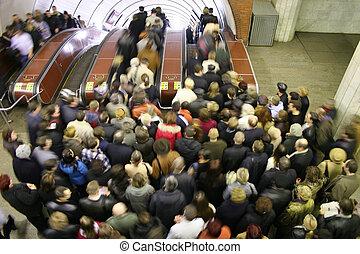 Escalator-Leute