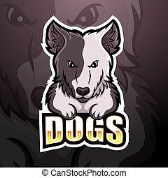 esport, maskottchen, logo, hund, design