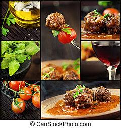 Essenskollage - Fleischbällchen