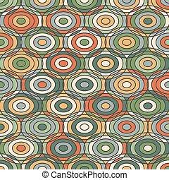 Ethnische geometrische Ornamente mit Kreisen