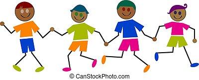 Ethnische Kinder