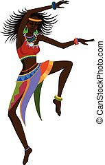 Ethnische Tanz-Afrikanin.
