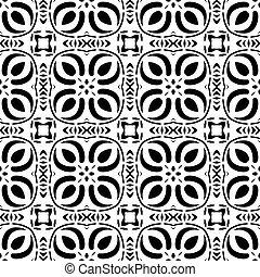 Ethnisches modernes geometrisches, nahtloses Muster-Ornament