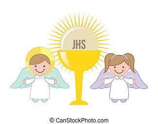 Eucharistisches Design.