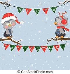 eulen, weihnachten