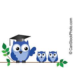Eulenlehrer und Schüler