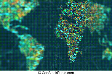 europa, afrikas, fokus