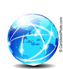 Europa globaler Kommunikationsplaneten
