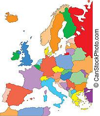 Europa mit redaktionellen Ländern