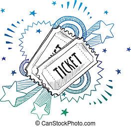 Event Aufregung Ticket Sketch