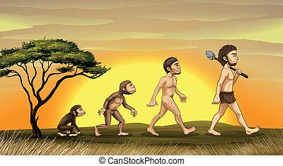 Evolution des Menschen.